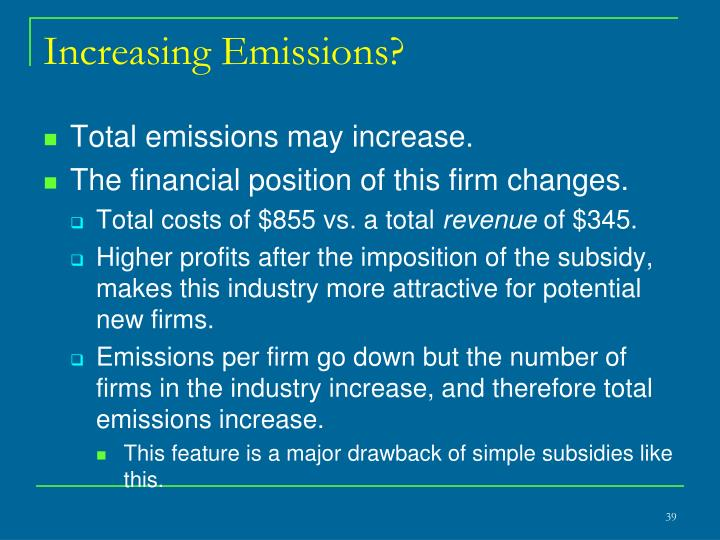 Increasing Emissions?