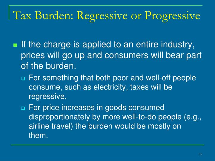 Tax Burden: Regressive or Progressive