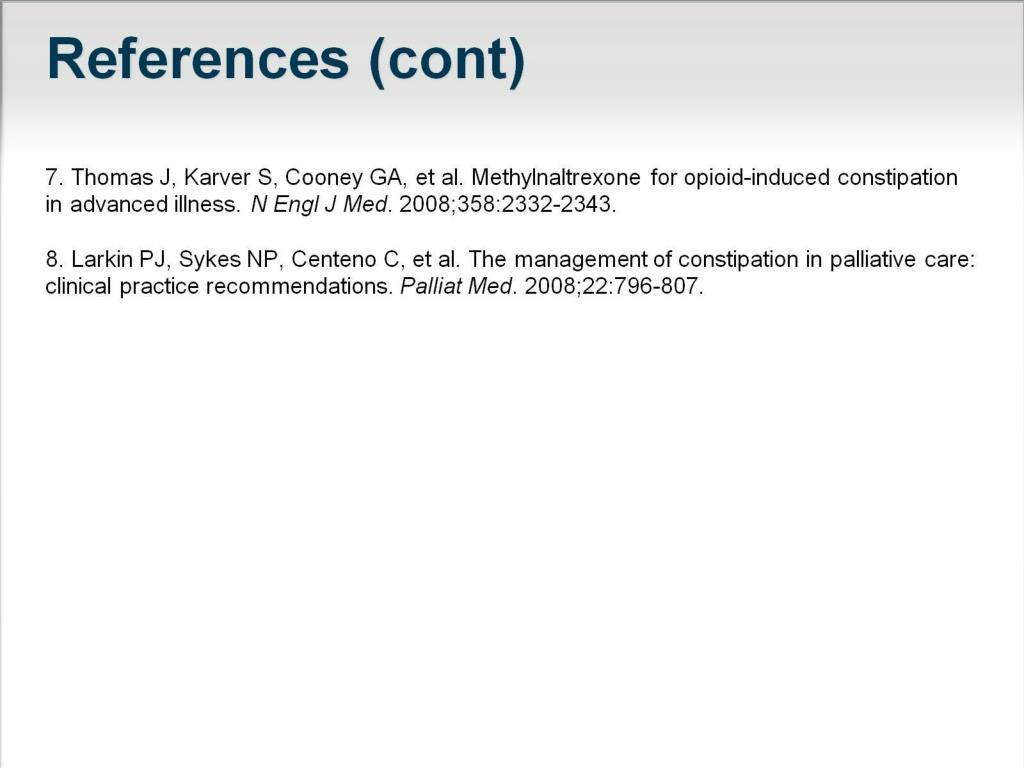 PPT - Multimodal Management of Opioid-Induced Constipation