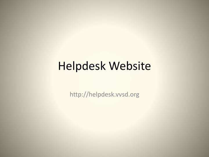 Helpdesk Website