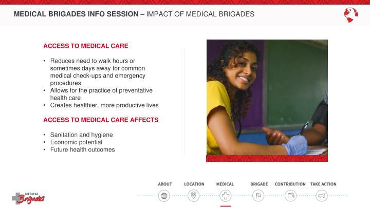 MEDICAL BRIGADES INFO SESSION
