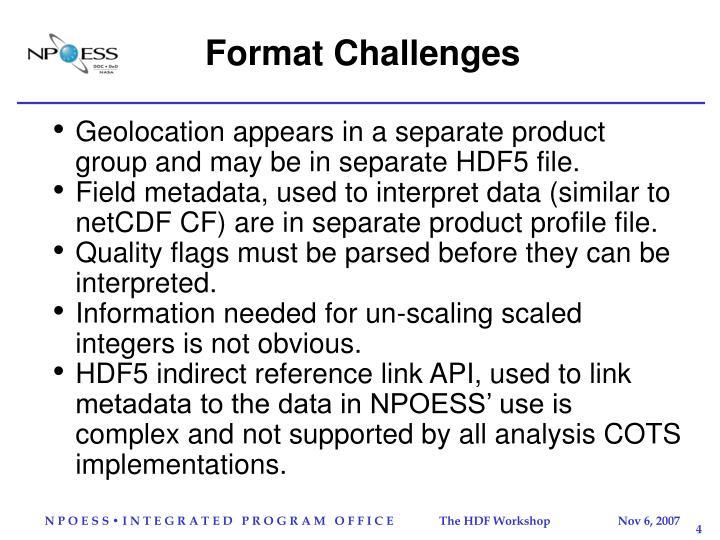 Format Challenges