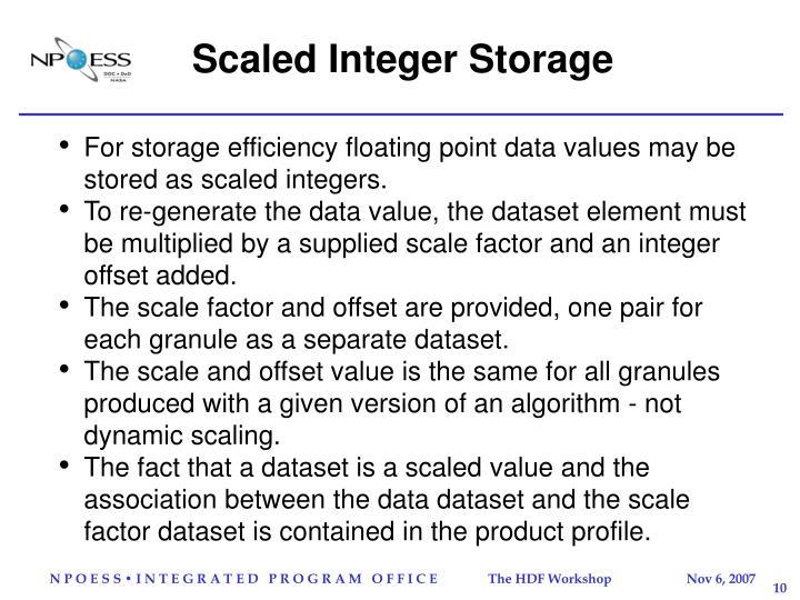 Scaled Integer Storage