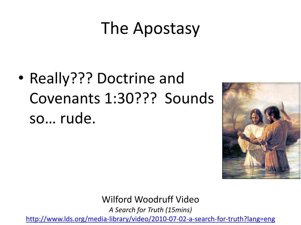 PPT - The Apostasy PowerPoint Presentation - ID:6031238