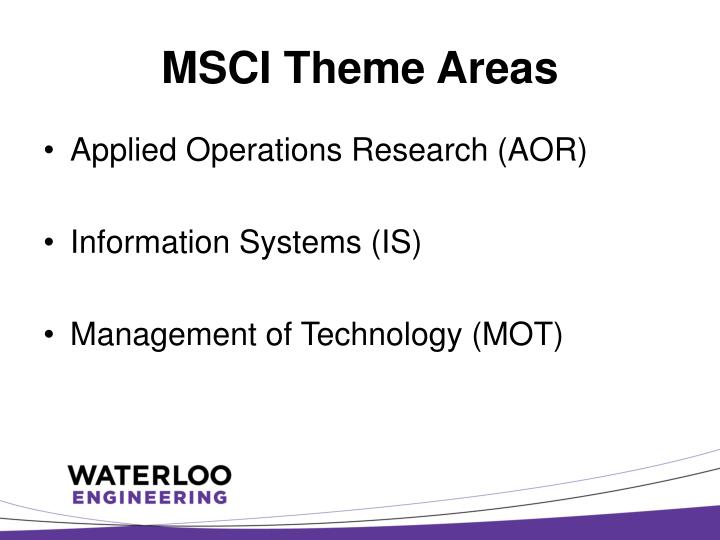 MSCI Theme Areas