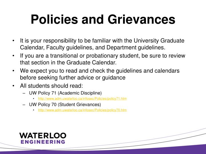 Policies and Grievances