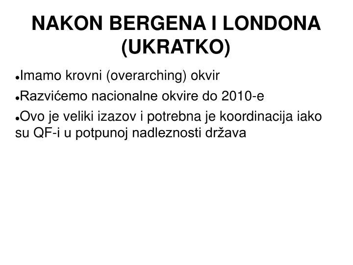 NAKON BERGENA I LONDONA (UKRATKO)