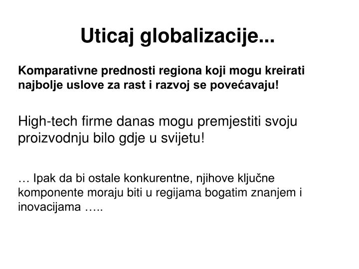 Uticaj globalizacije...
