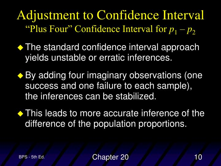 Adjustment to Confidence Interval