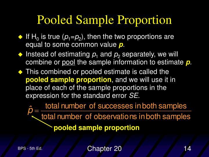 pooled sample proportion
