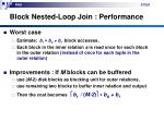 block nested loop join performance