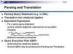 parsing and translation