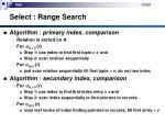 select range search