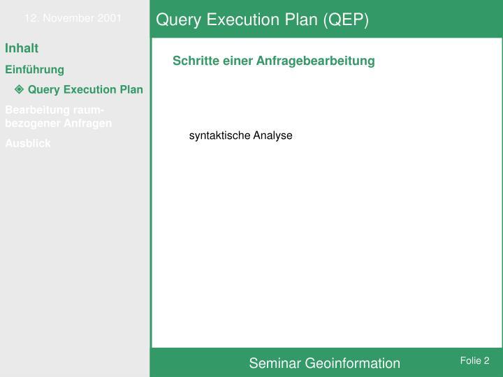 Query execution plan qep