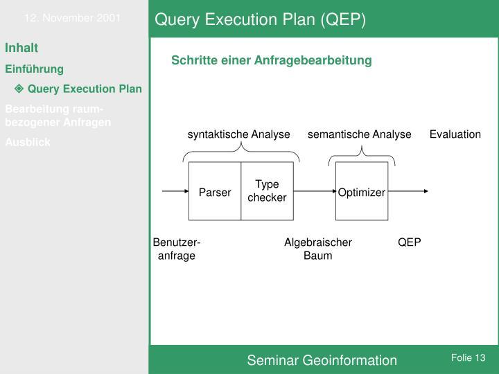 Query Execution Plan (QEP)