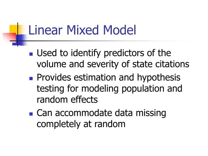 Linear Mixed Model