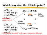 which way does the e field point