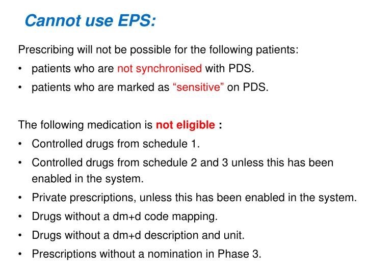 Cannot use EPS: