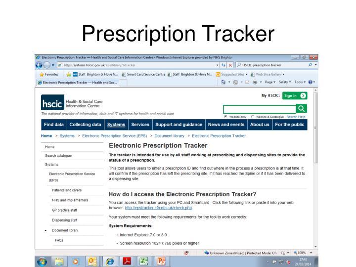 Prescription Tracker