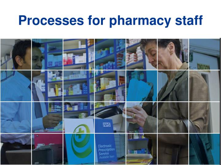 Processes for pharmacy staff