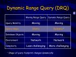 dynamic range query drq
