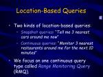 location based queries