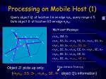 processing on mobile host 1
