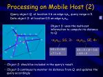 processing on mobile host 2