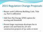2015 regulation change proposals