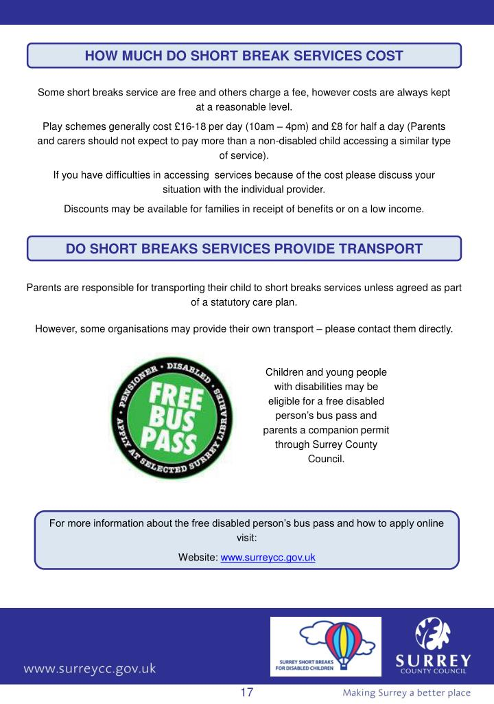 HOW MUCH DO SHORT BREAK SERVICES COST