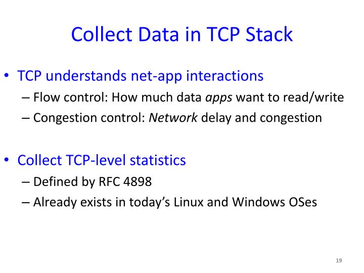 Collect Data in TCP Stack