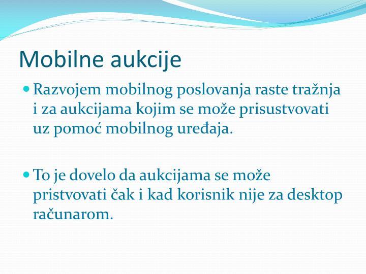 Mobilne aukcije