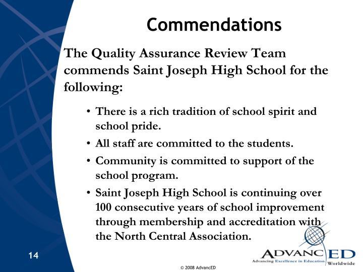 Commendations