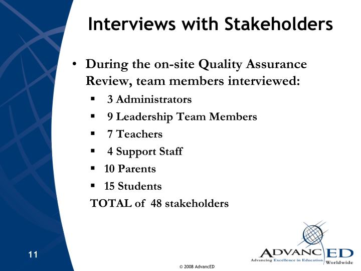 Interviews with Stakeholders