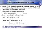 bandwidth considerations of 8 psk1