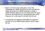 bandwidth considerations of bpsk1