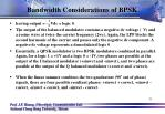 bandwidth considerations of bpsk7
