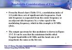 bandwidth considerations of fsk4