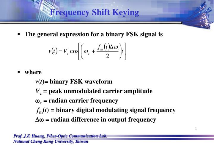 PPT - Frequency Shift Keying PowerPoint Presentation - ID:6032027