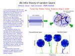 ab initio theory of random lasers