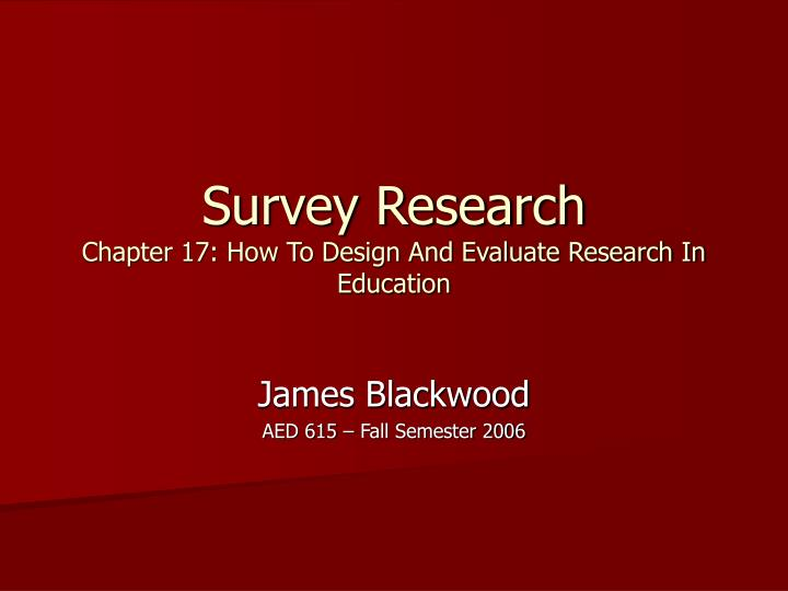 an analysis of the survey research Need to analyze survey data (primary or secondary) and don't know how to incorporate the sampling weight and design into the analysis have ever been warned that your standard errors from estimates derived using survey data are incorrect because you didn't take into account the survey design.