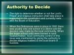 authority to decide1