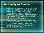 authority to decide2