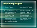 balancing rights