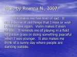 blue by reanna n 2007