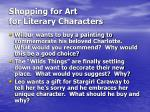 shopping for art for literary characters
