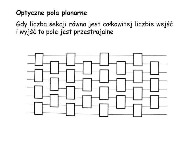 Optyczne pola planarne