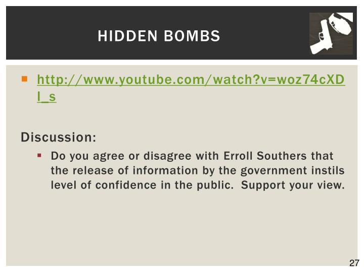 Hidden Bombs