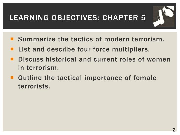 Learning objectives chapter 5