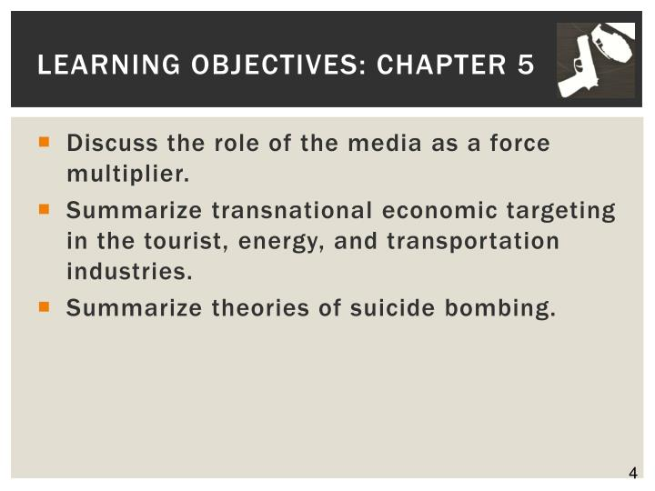 Learning Objectives: Chapter 5